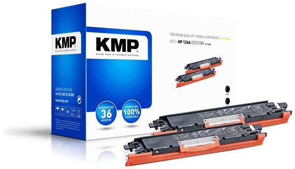 Toner KMP, Doppelpack kompatibel zu HP 126A (CE310A)