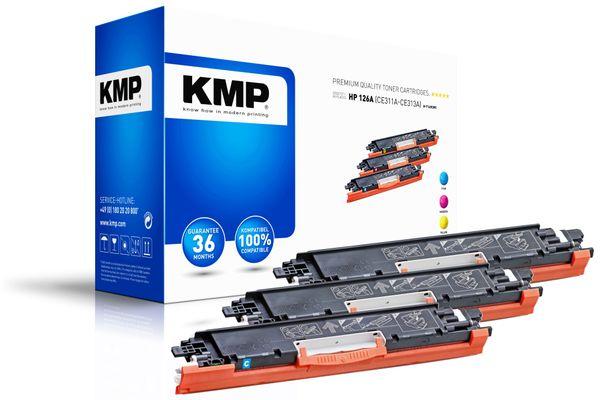 Toner-Set KMP, kompatibel für HP 126A (CE311A, CE312A,CA313A)