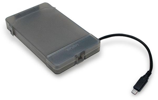 """USB-C 3.1 Gen1 auf 2,5"""" S-ATA Adapter mit Schutztülle Logilink - Produktbild 1"""