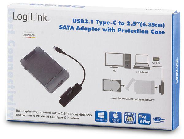 """USB-C 3.1 Gen1 auf 2,5"""" S-ATA Adapter mit Schutztülle Logilink - Produktbild 4"""