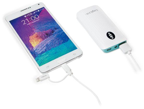 USB-Daten/Ladekabel mit Micro USB und Lightning Anschluss, 1 m, LogiLink - Produktbild 4