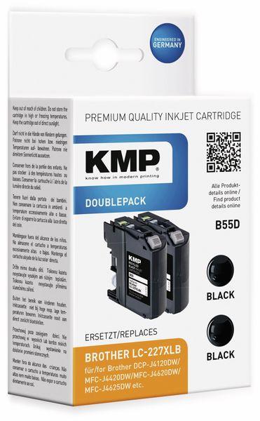 Tintenpatrone KMP B55D, kompatibel zu BROTHER, 2 Stück