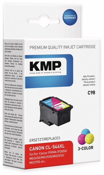 Tintenpatrone KMP C98, kompatibel zu CANON Pixma
