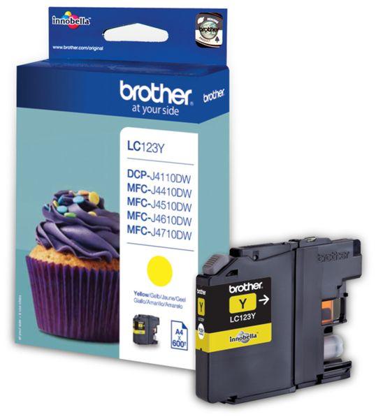 Tintenpatrone BROTHER LC-123Y, gelb
