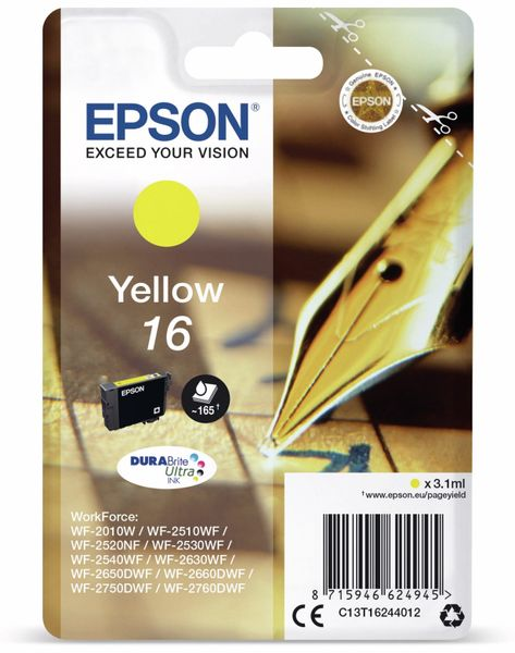 Tintenpatrone EPSON 16, gelb