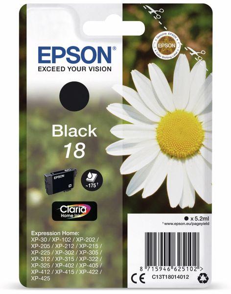 Tintenpatrone EPSON 18, schwarz
