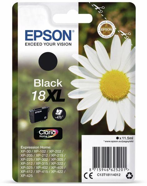 Tintenpatrone EPSON 18 XL, schwarz