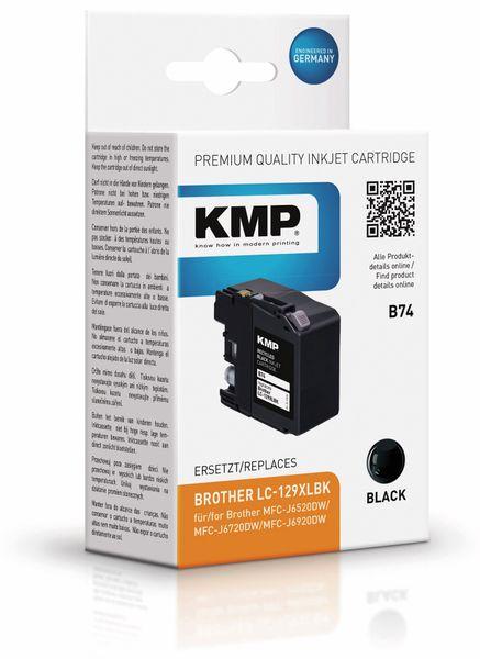 Tintenpatrone KMP B74, kompatibel zu Brother LC129XLBK