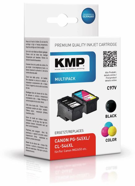 Tintenpatrone KMP C97V, kompatibel zu Canon PG-545XL/CL-546XL