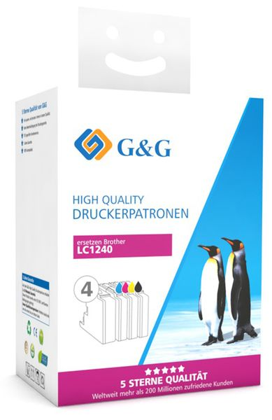 Tinten-Multipack G&G, kompatibel zu Brother, color + schwarz