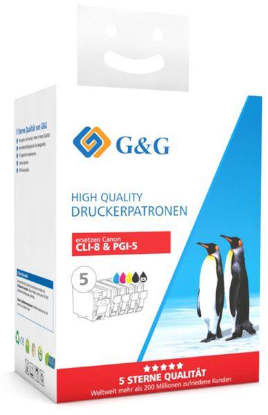 Tinten-Multipack G&G, color + schwarz/foto