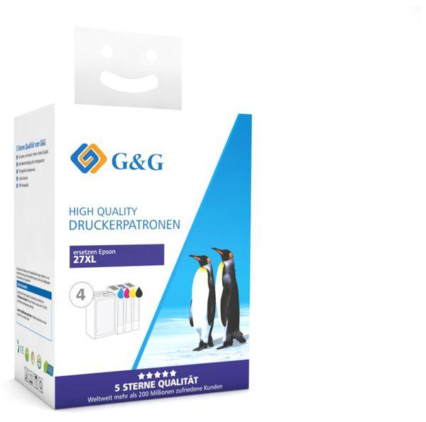 Tinten-Multipack G&G, kompatibel zu Epson, color + schwarz