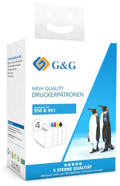 Tinten-Multipack G&G, kompatibel zu HP, color + schwarz