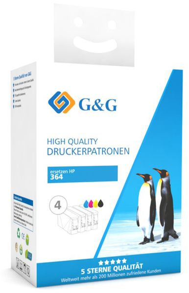 Tinten-Multipack G&G, color + schwarz