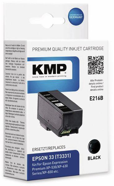 Tintenpatrone KMP E216B, schwarz