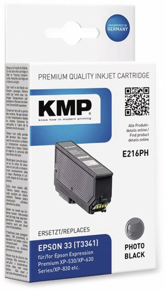Tintenpatrone KMP E216PH, Fotoschwarz