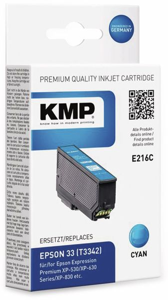 Tintenpatrone KMP E216C, cyan