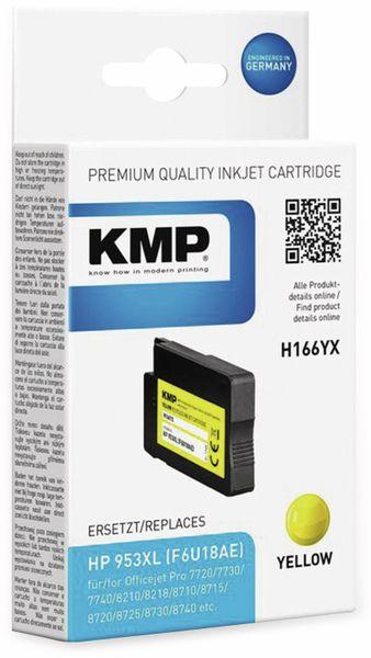 Tintenpatrone KMP H166YX, gelb