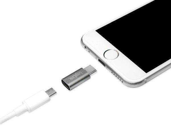 USB-Adapter LOGILINK AU0041, USB-C Stecker auf USB-Micro Kupplung - Produktbild 5