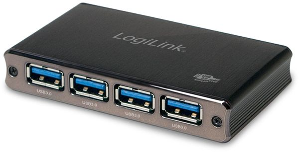 USB3.0-Hub LOGILINK UA0282, 4-Port, Aluminium - Produktbild 1