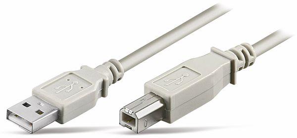 USB2.0-Anschlusskabel, A/B, 0,5 m
