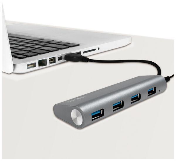 USB3.0-Hub LOGILINK UA0307, 4x USB-A, Aluminium - Produktbild 3