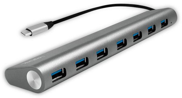 USB3.1 Typ-C Hub LOGILINK UA0310, 7x USB-A, Aluminium - Produktbild 1