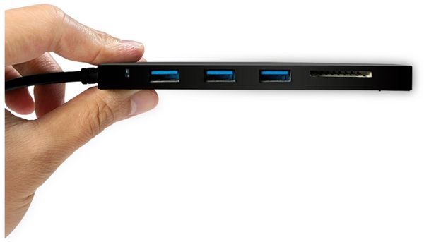 USB3.1 Typ-C Hub LOGILINK UA0312, 3x USB-A, Cardreader - Produktbild 2
