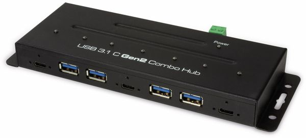 USB3.1 Industrie-Hub LOGILINK UA0319, 7-port, 3x USB-C/4x USB-A - Produktbild 1