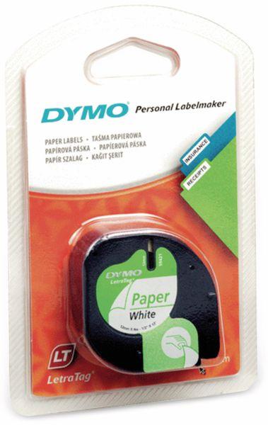 Beschriftungsband DYMO für LetraTag, schwarz auf weiß