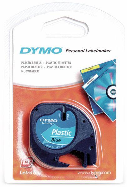 Beschriftungsband DYMO für LetraTag, schwarz auf blau