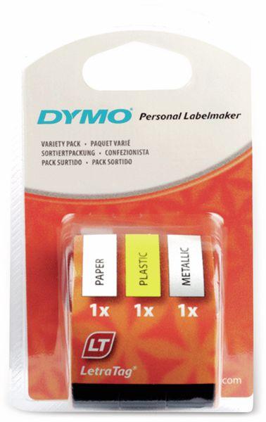 Schriftband-Starterpack DYMO für LetraTag, 3er-Set