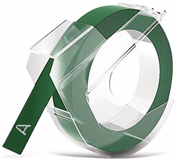 Prägeband DYMO, grün, 9 mm x 3 m