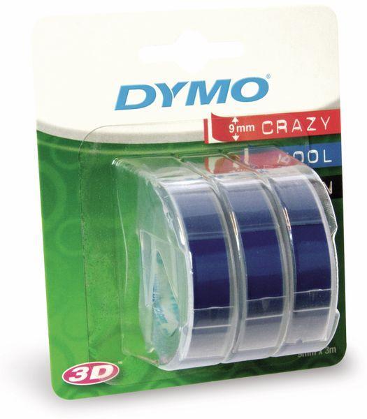 Prägebänder DYMO, 3x blau, 9 mm x 3 m
