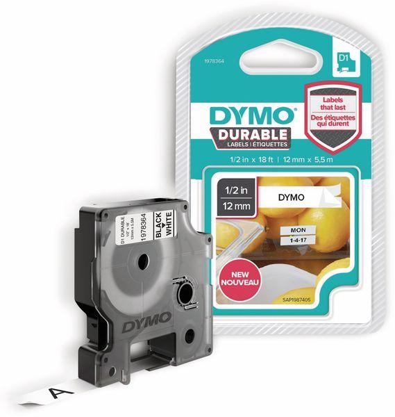 Beschriftungsband DYMO D1 für LabelManager, schwarz auf weiß, Vinyl