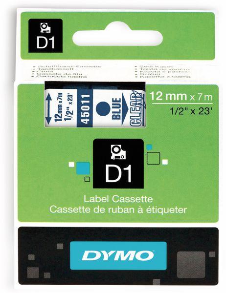 Beschriftungsband DYMO D1 für LabelManager, blau auf transparent, Standard