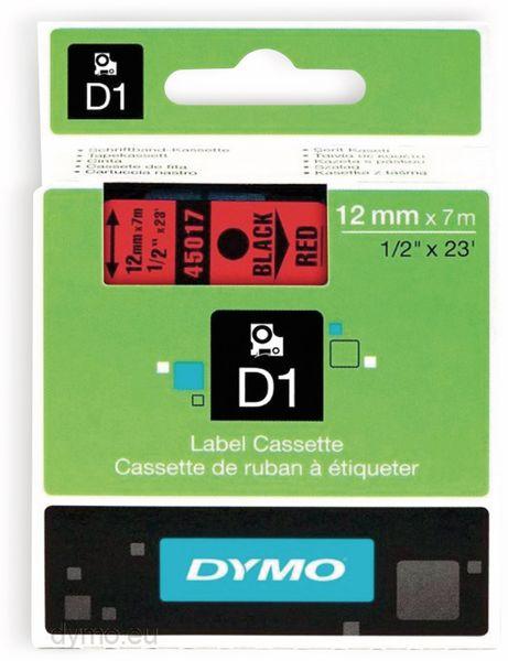 Beschriftungsband DYMO D1 für LabelManager, schwarz auf rot, Standard
