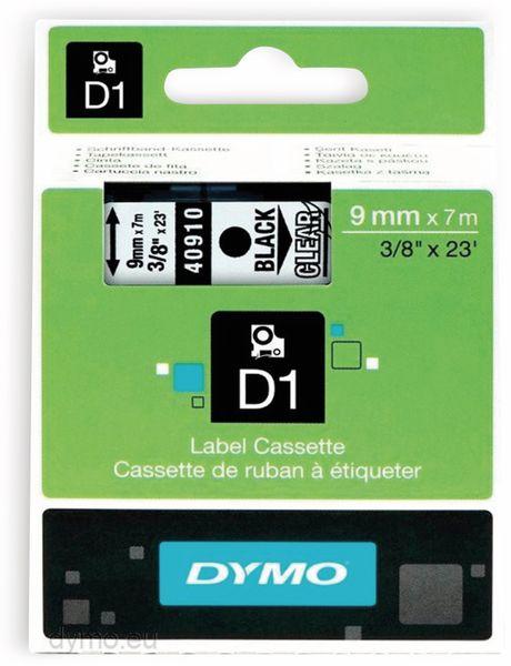 Beschriftungsband DYMO D1 für LabelManager, schwarz auf transparent, Standard