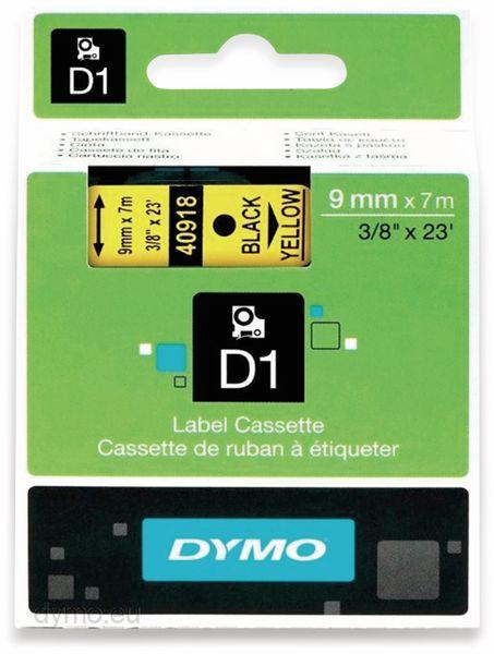 Beschriftungsband DYMO D1 für LabelManager, schwarz auf gelb, Standard