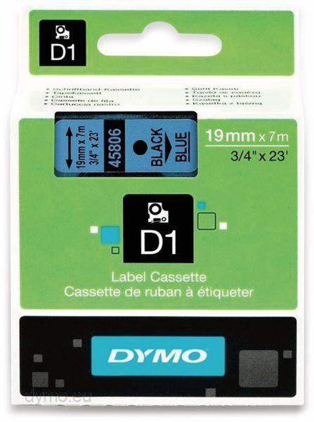 Beschriftungsband DYMO D1 für LabelManager, schwarz auf blau, Standard