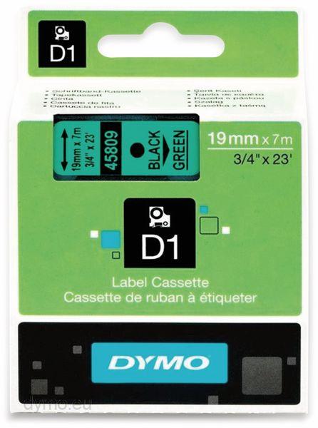 Beschriftungsband DYMO D1 für LabelManager, schwarz auf grün, Standard