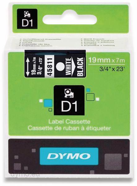 Beschriftungsband DYMO D1 für LabelManager, weiß auf schwarz, Standard