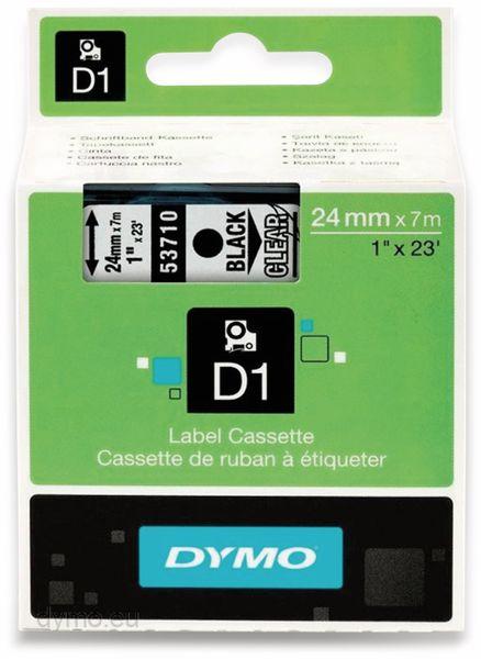 Beschriftungsband DYMO D1 für LabelManager, schwarz transparent, Standard