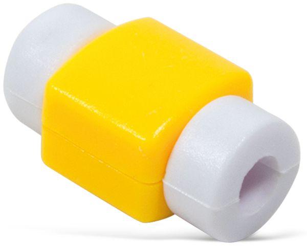 Knickschutz für USB-Kabel LOGILINK AA0091G, gelb