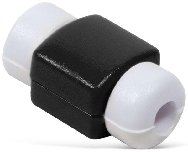 Knickschutz für USB-Kabel LOGILINK AA0091S, schwarz