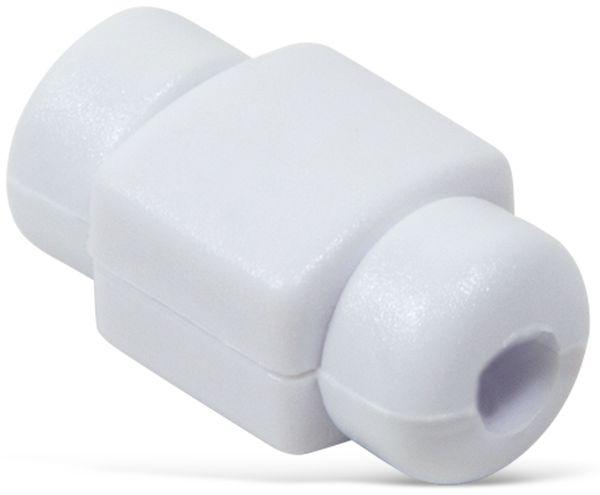 Knickschutz für USB-Kabel LOGILINK AA0091W, weiß