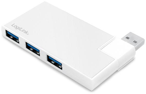 USB3.0 Hub LOGILINK UA0303, 4-port, 90°-180° drehbar - Produktbild 2