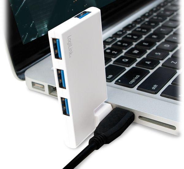 USB3.0 Hub LOGILINK UA0303, 4-port, 90°-180° drehbar - Produktbild 5
