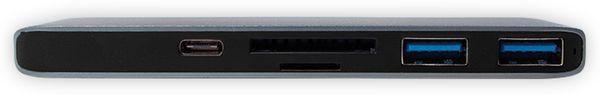 USB-C Hub LOGILINK UA0301, Multifunktion, Aluminium - Produktbild 3