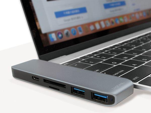USB-C Hub LOGILINK UA0301, Multifunktion, Aluminium - Produktbild 4